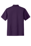 Regal Purple Port Authority Tech Pique Polo as seen from the back