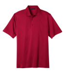 Rich Red Port Authority Tech Pique Polo as seen from the front