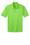 Lime Port Authority Silk Touch Performance Polo as seen from the front