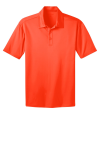 Neon Orange Port Authority Silk Touch Performance Polo as seen from the front