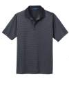 Graphite Black Port Authority Fine Stripe Performance Polo as seen from the front
