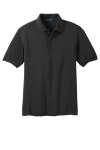 Black Port Authority 5-in-1 Performance Pique Polo as seen from the front