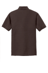 Choc Brown Port Authority 5-in-1 Performance Pique Polo as seen from the back