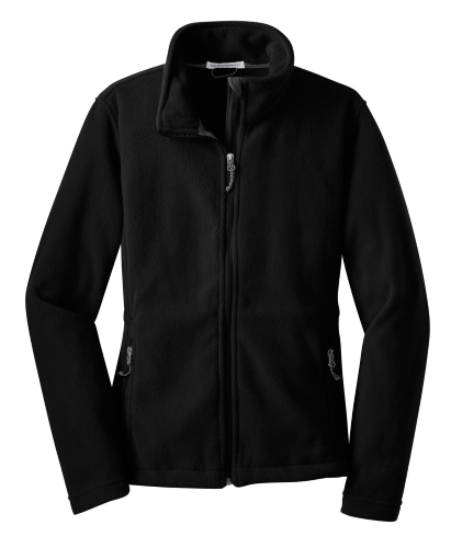 Black Port Authority Ladies Value Fleece Jacket as seen from the front