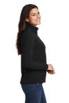 Black Port Authority Ladies Value Fleece Jacket as seen from the sleeveleft