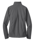 Iron Grey Port Authority Ladies Value Fleece Jacket as seen from the back