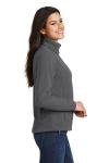 Iron Grey Port Authority Ladies Value Fleece Jacket as seen from the sleeveleft