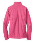 Pink Blossom Port Authority Ladies Value Fleece Jacket as seen from the back