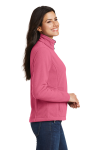 Pink Blossom Port Authority Ladies Value Fleece Jacket as seen from the sleeveleft