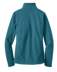 Teal Blue Port Authority Ladies Value Fleece Jacket as seen from the back