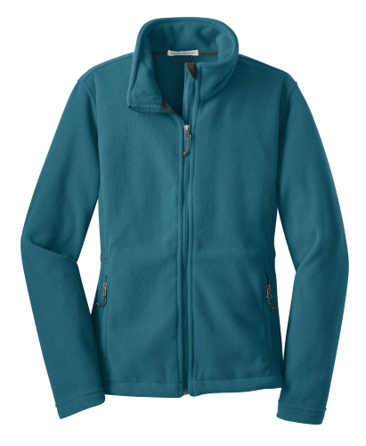 Teal Blue Port Authority Ladies Value Fleece Jacket as seen from the front