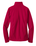 True Red Port Authority Ladies Value Fleece Jacket as seen from the back