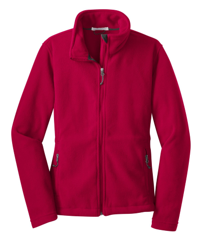 True Red Port Authority Ladies Value Fleece Jacket as seen from the front