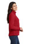 True Red Port Authority Ladies Value Fleece Jacket as seen from the sleeveleft