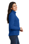 True Royal Port Authority Ladies Value Fleece Jacket as seen from the sleeveleft