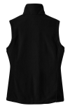 Black Port Authority Ladies Value Fleece Vest as seen from the back