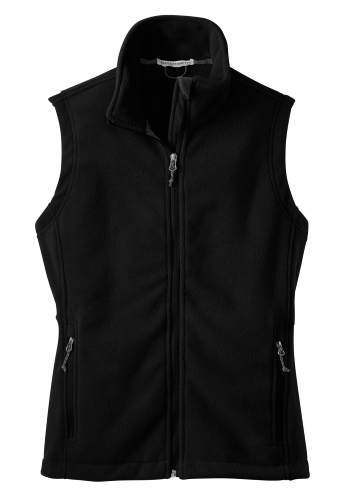 Black Port Authority Ladies Value Fleece Vest as seen from the front