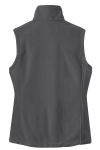 Iron Grey Port Authority Ladies Value Fleece Vest as seen from the back