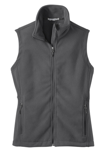 Iron Grey Port Authority Ladies Value Fleece Vest as seen from the front