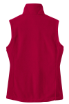 True Red Port Authority Ladies Value Fleece Vest as seen from the back