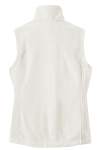 Winter White Port Authority Ladies Value Fleece Vest as seen from the back