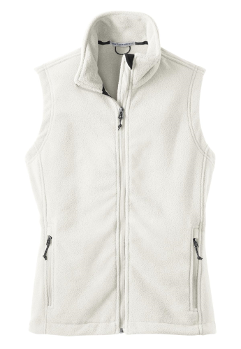 Winter White Port Authority Ladies Value Fleece Vest as seen from the front