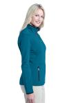 Blue Glacier Port Authority Ladies Pique Fleece Jacket as seen from the sleeveleft