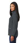 Graphite Port Authority Ladies Pique Fleece Jacket as seen from the sleeveleft