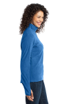 Light Royal Port Authority Ladies Microfleece 1/2-Zip Pullover as seen from the sleeveleft