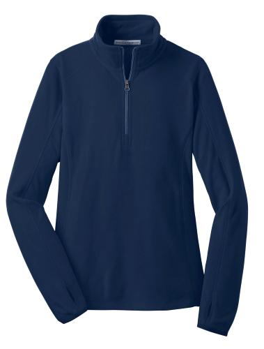 True Navy Port Authority Ladies Microfleece 1/2-Zip Pullover as seen from the front