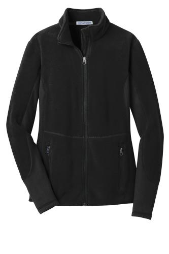 Black Black Port Authority Ladies R-Tek Pro Fleece Full-Zip Jacket as seen from the front