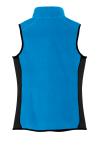 Imperial Bl Bk Port Authority Ladies R-Tek Pro Fleece Full-Zip Vest as seen from the back