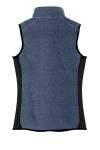 Navy Hthr Blk Port Authority Ladies R-Tek Pro Fleece Full-Zip Vest as seen from the back