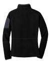 Black Bat Grey Port Authority Ladies Enhanced Value Fleece Full-Zip Jacket as seen from the back