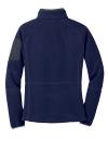 Navy Bat Grey Port Authority Ladies Enhanced Value Fleece Full-Zip Jacket as seen from the back