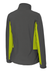 Bat Gry Ch Grn Port Authority Ladies Core Colorblock Soft Shell Jacket as seen from the back