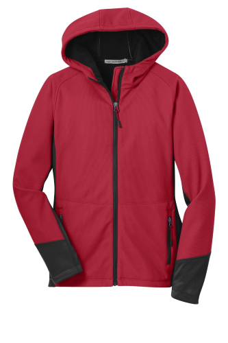 Port Authority Ladies Vertical Hooded Soft Shell Jacket