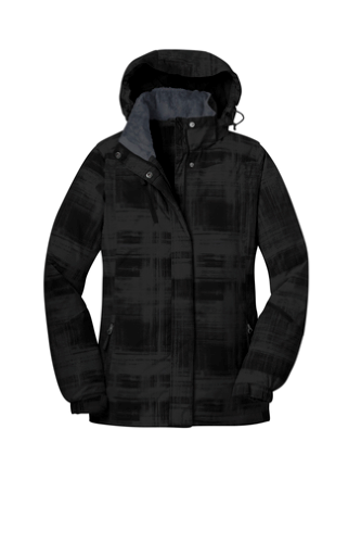 Port Authority Ladies Brushstroke Print Insulated Jacket