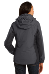 Mag Gy Blk Bry Port Authority Ladies Colorblock 3-in-1 Jacket as seen from the back
