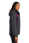 Mag Gy Blk Bry Port Authority Ladies Colorblock 3-in-1 Jacket as seen from the sleeveleft