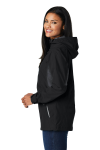 Blk Magnet Gry Port Authority Ladies Cascade Waterproof Jacket as seen from the sleeveleft