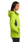 Chg Grn Mag Gy Port Authority Ladies Cascade Waterproof Jacket as seen from the sleeveleft