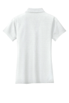 White Port Authority Ladies Vertical Pique Polo as seen from the back