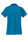 Ocean Blue Port Authority Ladies Performance Fine Jacquard Polo as seen from the back