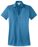 Ocean Blue Port Authority Ladies Performance Fine Jacquard Polo as seen from the front