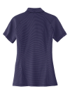 Purple Db Navy Port Authority Ladies Fine Stripe Performance Polo as seen from the back