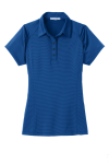 Seap Bl Db Nvy Port Authority Ladies Fine Stripe Performance Polo as seen from the front