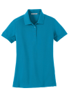 Blue Wake Port Authority Ladies 5-in-1 Performance Pique Polo as seen from the front