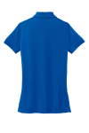 Cobalt Blue Port Authority Ladies 5-in-1 Performance Pique Polo as seen from the back