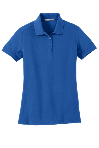 Cobalt Blue Port Authority Ladies 5-in-1 Performance Pique Polo as seen from the front